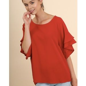 Adelphi Blouse in Christmas Red